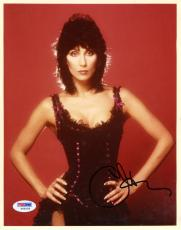 """Cher Autographed 8""""x 10"""" Hands on Hips Photograph With Black Ink - PSA/DNA COA"""
