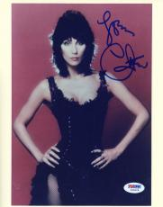 """Cher Autographed 8""""x 10"""" Hands on Hips Photograph With Blue Ink - PSA/DNA COA"""