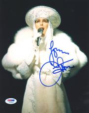 "Cher Autographed 8""x 10"" White Hat Photograph - PSA/DNA COA"