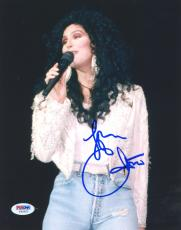 "Cher Autographed 8""x 10"" White Jacket Photograph - PSA/DNA COA"