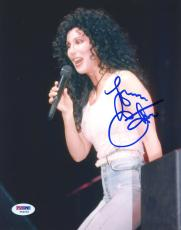 "Cher Autographed 8""x 10"" White Shirt Photograph - PSA/DNA COA"