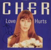 Cher Autographed Love Hurts Album Cover - PSA/DNA COA