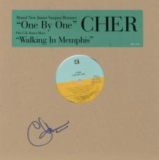 Cher Autographed One by One Single Album Cover - PSA/DNA COA