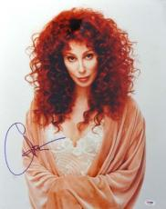 Cher Autographed Signed 16x20 Photo PSA/DNA #T14464