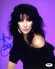 Cher Autographed Signed 8x10 Photo Authentic PSA/DNA COA