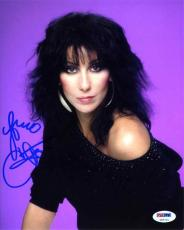 Cher Autographed Signed 8x10 Photo Authentic PSA/DNA COA