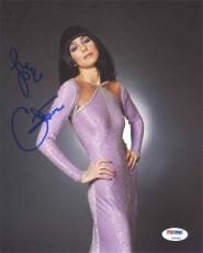 Cher Autographed Signed 8x10 Photo Certified Authentic PSA/DNA AFTAL
