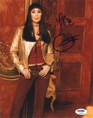 Cher Autographed Signed 8x10 Photo Certified Authentic PSA/DNA COA   !