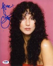 Cher Autographed Signed 8x10 Photo Certified Authentic PSA/DNA COA