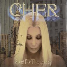 Cher Autographed Song For The Lonely Album Cover - PSA/DNA COA