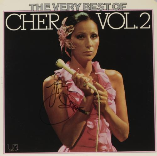 Cher Autographed The Very Best of Cher Vol.2 Album Cover - PSA/DNA COA