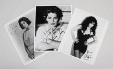 Cher, Claire Bloom & Priscilla Presley Signed 8×10 Photos – JSA