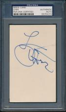 Cher Index Card PSA/DNA Certified Authentic Auto Autograph Signed *4374