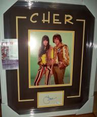 Cher Music Legend Autograph Signed Double Matted & Framed Jsa Coa Very Rare