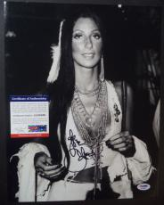 Cher Music Legend Signed Autographed 11x14 Photo Psa/dna Coa Authenticated Rare