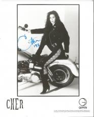 Cher Music Legend Signed Autographed 8x10 B/w Promo Photo Vintage Rare W/coa