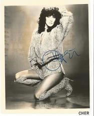 Cher Music Legend Signed Autographed 8x10 Photo Vintage Rare Jsa Loa #y75176