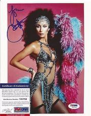 Cher Music Legend Signed Autographed 8x10 Photo Vintage Rare Psa/dna Coa Rare