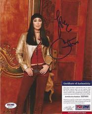 Cher Music Legend Signed Autographed 8x10 Photo Vintage Rare Psa/dna Coa Rare A