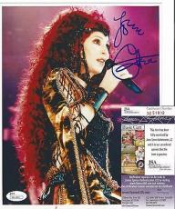 Cher Music Legend Signed Autographed 8x10 Photo Vintage Rare Jsa Coa Rare