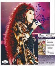 Cher Music Legend Signed Autographed 8x10 Photo Vintage Rare Jsa Coa Rare