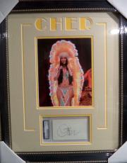 Cher Music Legend Signed Autographed Double Matted & Framed Psa Dna Auth Rare B