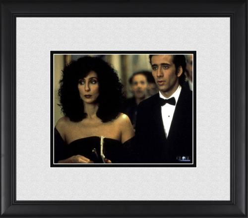 "Cher & Nicolas Cage Moonstruck Framed 8"" x 10"" at Wedding Photograph"