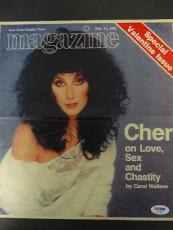 Cher Signed 10x12 Magazine Cover Autograph Auto PSA/DNA X77822