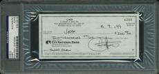 Cher Signed 2.75x6 1999 Cancelled Bank Check PSA/DNA Slabbed