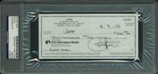 Cher Signed 2.75x6 1999 Cancelled Bank Check PSA/DNA Slabbed