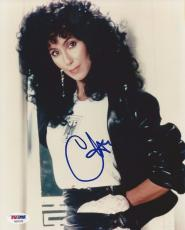 CHER Signed 8 x10 PHOTO with PSA/DNA LOA & Graded 10