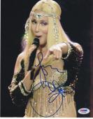 Cher Signed 8x10 Photo Hot Sexy Music Legend Authentic Autograph Psa/dna Coa A