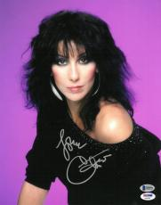 Cher Signed Authentic Autographed 11x14 Photo PSA/DNA #X49652