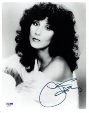 Cher Signed Authentic Autographed 8x10 B/W Photo PSA/DNA #X22988