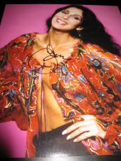 Cher Signed Autograph 11x14 Photo Legend Womans World Strong Enough Proof Ny G