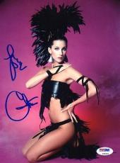 CHER SIGNED AUTOGRAPHED 8x10 PHOTO IF I COULD TURN BACK TIME VERY RARE PSA/DNA
