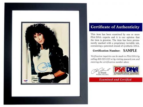 Cher Signed - Autographed Legendary Singer - Actress 8x10 inch Photo BLACK CUSTOM FRAME - PSA/DNA Certificate of Authenticity (COA)
