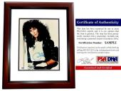 Cher Signed - Autographed Legendary Singer - Actress 8x10 inch Photo MAHOGANY CUSTOM FRAME - PSA/DNA Certificate of Authenticity (COA)