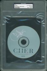Cher Signed Believe Me Cd Autographed In Silver PSA/DNA Slabbed
