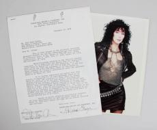 "Cher Signed Contract Casablanca Records RARE ""Cher Bono Allman"" – PSA/DNA"