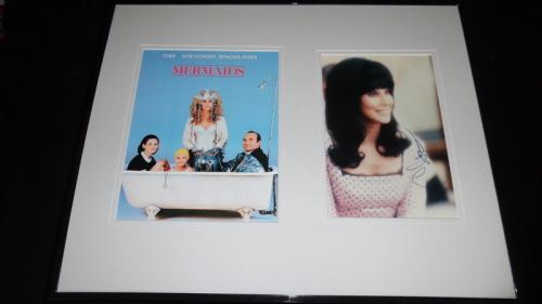 Cher Signed Framed 16x20 Poster Photo Set JSA Mermaids