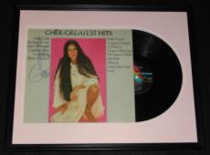 Cher Signed Framed 1972 Greatest Hits Record Album Display