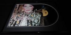 Cher Signed Framed 1972 Superpack Record Album Display