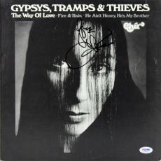 Cher Signed Gypsys, Tramps & Thieves Album Cover W/ Vinyl PSA/DNA #AC60373