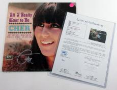 Cher Signed LP Record Album All I Really Want to Do w/ JSA Auto
