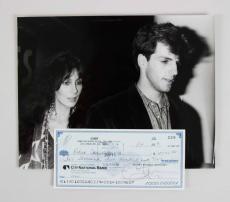 Cher Signed Personal Check to Boyfriend Robert Camilletti w/ Photo – JSA