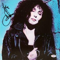 Cher Signed Self Titled Album Cover W/ Vinyl Autographed PSA/DNA #AC63074