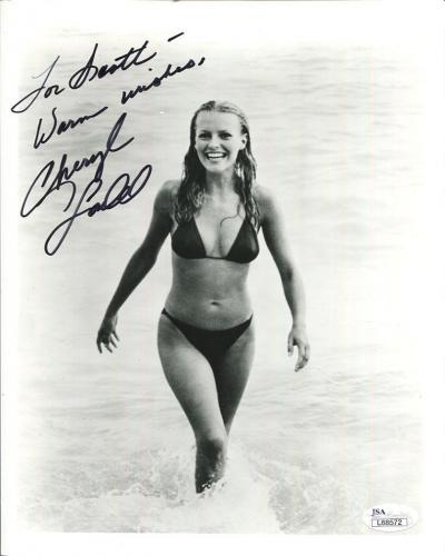CHERYL LADD AUTOGRAPHED 8x10 PHOTO        VERY SEXY BIKINI POSE        JSA
