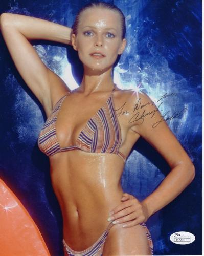 CHERYL LADD HAND SIGNED 8x10 COLOR PHOTO    SEXIEST POSE EVER    TO DAVID    JSA