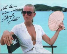 CHERYL LADD HAND SIGNED 8x10 COLOR PHOTO+COA      VERY SEXY CLEAVAGE     TO DAVE